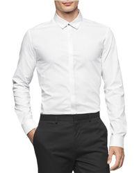 Calvin Klein - Twill Button Up Shirt - Lyst
