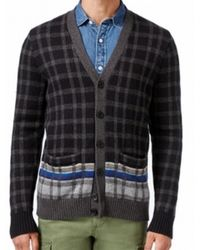 Jos. a. bank 1905 Plaid Cardigan Sweater - Big And Tall in Gray ...