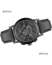 Burberry - Black Dial Stainless Steel Leather Chrono Quartz Watch Bu9364 - Lyst