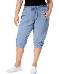 Calvin Klein - Plus Quick Dry Heathered Cropped Pants - Lyst