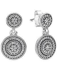 PANDORA - Radiant Elegance Dangle Earrings 290688cz - Lyst