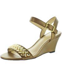 Polo Ralph Lauren - Lauren Ralph Lauren Hessa Wedge Slide Dress Sandals - Lyst