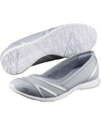 Lyst - Puma Vega Ballet Sneaker Flat in Gray fc8b848f1