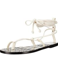 845255137765 Dolce Vita - Chandler Leather Printed Flat Sandals - Lyst