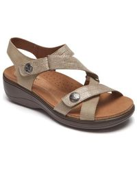 4242ae5b87b7 Lyst - Maypol Made In Spain Dynamic X-band Wedge Leather Sandals in ...