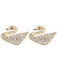 Swarovski - Swan Mini Pierced Earrings 5144289 - Lyst