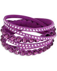 Swarovski - Slake Purple Dot Bracelet 5201123 - Lyst