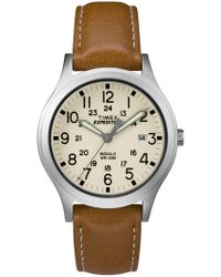 Timex - Expedition Scout 36 Tan/silver/natural Watch - Lyst