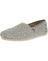3da0338a685 Lyst - TOMS Silver Crochet Glitter Women s Classics in Metallic