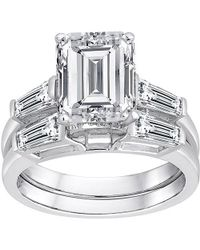 Swarovski - Pure Perfection Certified Bridal Ring With Emerald-cut Stone Made With Zirconia - Lyst