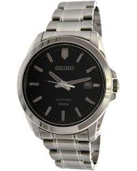 Seiko - Sgeh47 Silver Stainless-steel Quartz Dress Watch - Lyst