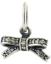 PANDORA - Authentic Sparkling Bow Pendant - Lyst