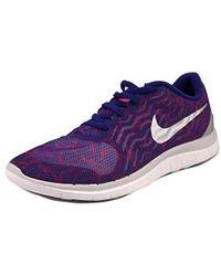 Nike - Free 4.0 Flyknit Women Us 9 Blue Sneakers Uk 6.5 Eu 40.5 - Lyst