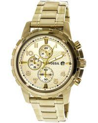 Fossil - Fs4867 Dean Stainless Steel Watch - Lyst