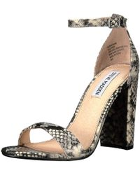 2ddf633b53a Steve Madden - Carrson Suede Open Toe Special Occasion Ankle Strap Sandals  - Lyst