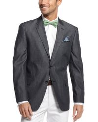 Tommy hilfiger White Gibbs Two-Button Linen Sport Coat in White ...