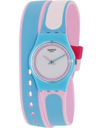 Swatch - Originals Ll117 Blue Silicone Swiss Quartz Watch - Lyst
