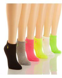 Polo Ralph Lauren   Cotton Sport Socks 6-pack   Lyst