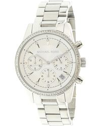Michael Kors - Ritz Chronograph White Dial Ladies Watch Mk6428 - Lyst