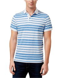 Tommy Hilfiger - Striped Rugby Polo Shirt White S - Lyst