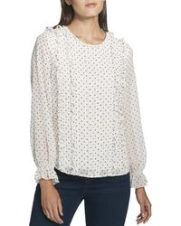 Tommy Hilfiger - Ruffled Pintuck Blouse - Lyst