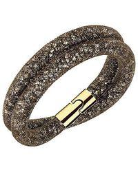 Swarovski - 5184846 Stardust Brown Double Bracelet - Lyst