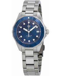 Tag Heuer - Aquaracer Blue Mother Of Pearl Diamond Dial Ladies Watch Way131l.ba0748 - Lyst
