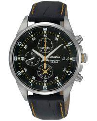 e74313d0b41c Lyst - Adidas Originals Men s Stan Smith Leather Watch in Black for Men