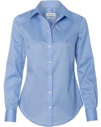 Calvin Klein - 13ck034 Non-iron Micro Pincord Long Sleeve Shirt - Lyst