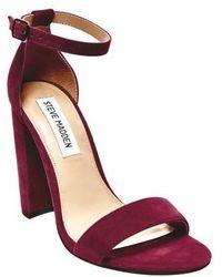 3908d242849 Steve Madden - Carrson Ankle Strap Sandal - Lyst