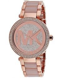 be4d33978aec Michael Kors - Mk6176 Parker Stainless Steel Watch - Lyst