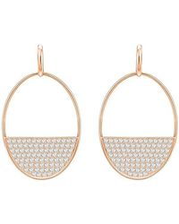 Swarovski - Ginger Pierced Earrings - White - Rose Gold Plating - 5353224 - Lyst