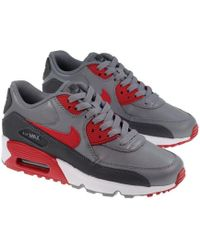 Nike | 833412-007 Kid's Air Max 90 Leather Running Shoes | Lyst