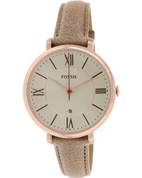 Fossil | Es3487 Jacqueline Leather Watch | Lyst