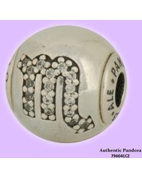 PANDORA - Authentic Scorpio Charm Charm In Sterling Silver - Lyst