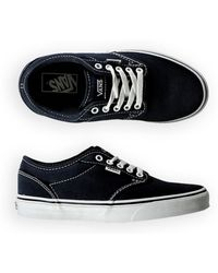 4d50022e20 Vans - Womens Atwood Canvas Sneakers Navygum 5 - Lyst