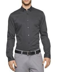 CALVIN KLEIN 205W39NYC - Crepe Twill Button Up Shirt - Lyst