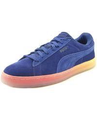 PUMA - Suede Classic Maneetvesperum Men Round Toe Suede Blue Sneakers - Lyst
