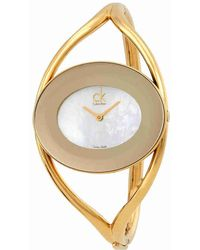 CALVIN KLEIN 205W39NYC - Delight White Mother Of Pearl Dial Ladies Watch K1a2381g - Lyst