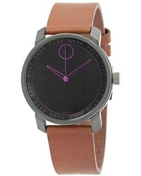 c14678545 Movado Bold Grey Dial Leather Watch 3600366 in Gray for Men - Lyst