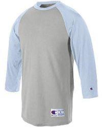 d0745882ebe Lyst - Champion T1397 5.2 Oz. Raglan T-shirt White  Navy S in Blue ...