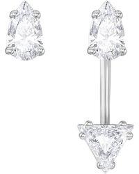 Swarovski - Pear-shaped Crystal Jacket Earrings - Lyst