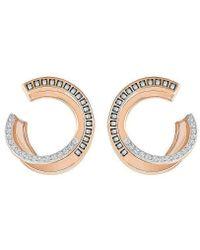 Swarovski - Hero Pierced Earrings - Gray - Rose Gold Plating - 5350662 - Lyst