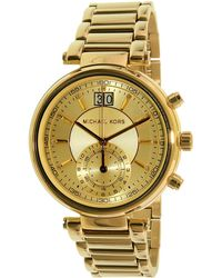 Michael Kors - Sawyer Mk6362 Gold Stainless-steel Quartz Fashion Watch - Lyst
