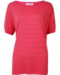CALVIN KLEIN 205W39NYC - Striped Knit Dolman Cotton Top (m - Lyst