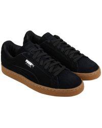 various colors 8ffdf 6fbb3 Lyst - PUMA Suede Classic Debossed Q4 Black Sneakers in Black for Men