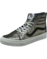 c56dc03bec Vans - Sk8 Hi Slim Zip Black High Top Sneakers - Lyst