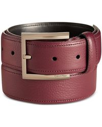 Calvin Klein - Dress Belt Red 32 - Lyst