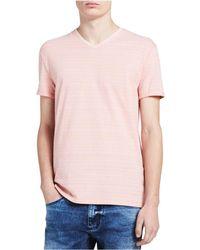 CALVIN KLEIN 205W39NYC - Jeans Short Sleeve Contour Stripe V-neck T-shirt - Lyst