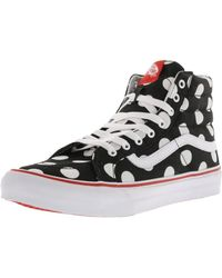 062cd676eeb8c2 Vans - Sk8-hi Slim Polka Dot Ankle-high Canvas Skateboarding Shoe - 10m